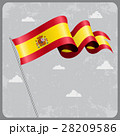 Spanish wavy flag. Vector illustration. 28209586