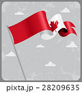 Canadian wavy flag. Vector illustration. 28209635