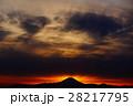 富士山の夕焼け景色 28217795