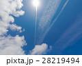 飛行機雲と太陽 28219494