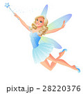 Vector cute flying blue tooth fairy with magic 28220376