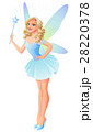 Vector beautiful tooth fairy in blue dress with 28220378