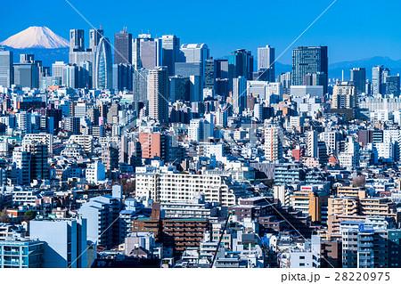 【東京都】富士山と新宿副都心 28220975
