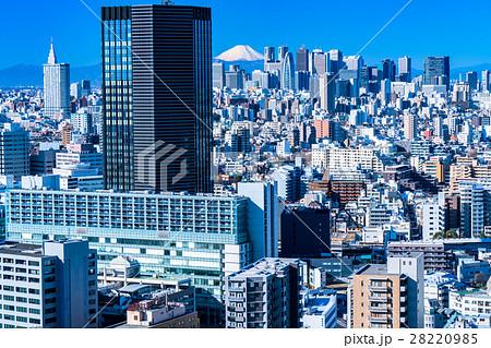 【東京都】富士山と新宿副都心 28220985