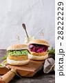 ハンバーガー バーガー ベジタリアンの写真 28222229