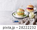 ハンバーガー バーガー ベジタリアンの写真 28222232