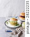 ハンバーガー バーガー ベジタリアンの写真 28222235