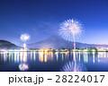 河口湖 花火 富士山の写真 28224017