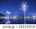 河口湖 花火 富士山の写真 28224018