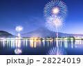 河口湖 花火 富士山の写真 28224019