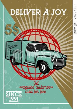 Color vintage express delivery banner 28224508