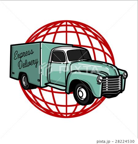 Color vintage express delivery emblem 28224530