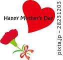 母の日メッセージ カーネーション ハート 28231203