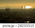 グエル公園からのぞむ朝焼けのサグラダ・ファミリア(スペイン-バルセロナ) 28233315