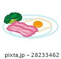 ベーコン 目玉焼き ベーコンエッグのイラスト 28233462