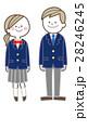 ベクター 高校生 ブレザーのイラスト 28246245