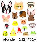 いろいろなペットの顔セット カラー 28247020