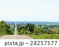 北海道 一本道 直線道路の写真 28257577