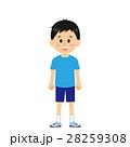 少年 男の子 直立のイラスト 28259308