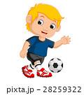 少年 遊ぶ サッカーのイラスト 28259322