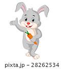 cartoon rabbit holding carrot 28262534