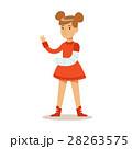 女子 腕 ギプスのイラスト 28263575