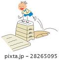 跳び箱 男の子 体育のイラスト 28265095