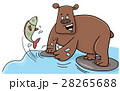fishing bear cartoon character 28265688