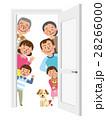 ドアからのぞく三世代家族 28266000