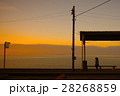 下灘駅 夕景 駅の写真 28268859