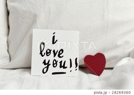 text I love you in a noteの写真素材 [28269360] - PIXTA