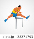 Man jump hurdles 28271793