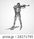 abstract biathlon sportsman 28271795