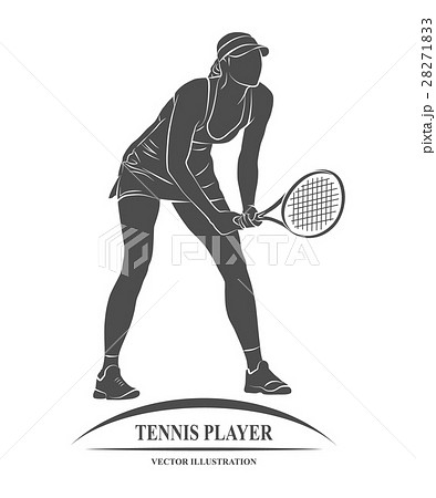 tennis player, silhouette 28271833