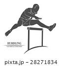 Man jump hurdles 28271834