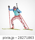 abstract biathlon sportsman 28271863