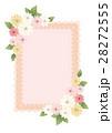 花とレース柄のフレーム 28272555