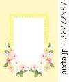 花とレース柄のフレーム 28272557