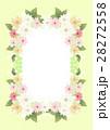 花とレース柄のフレーム 28272558