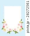 花とレース柄のフレーム 28272561