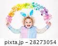 子 子供 パステルの写真 28273054
