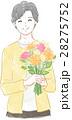 女性 シニア 花束のイラスト 28275752