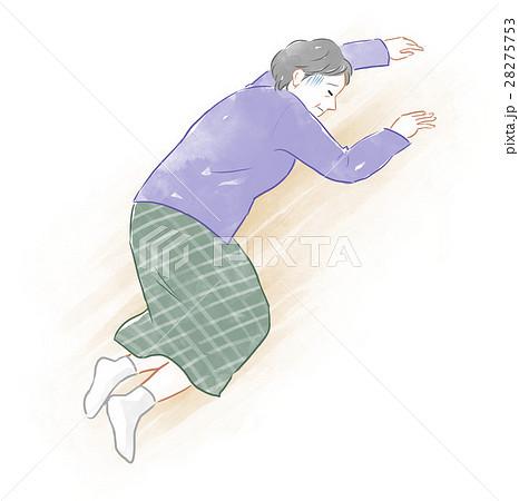 倒れるシニア女性のイラスト素材 28275753 Pixta