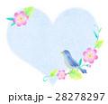 ハート 鳥 小鳥のイラスト 28278297