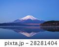 青空 富士山 冠雪の写真 28281404