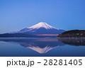 青空 富士山 冠雪の写真 28281405