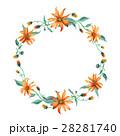 水彩画 花輪 フラワーのイラスト 28281740