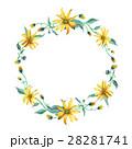 水彩画 花輪 フラワーのイラスト 28281741