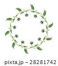 水彩画 花輪 フレームのイラスト 28281742