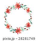 水彩画 花輪 フレームのイラスト 28281749